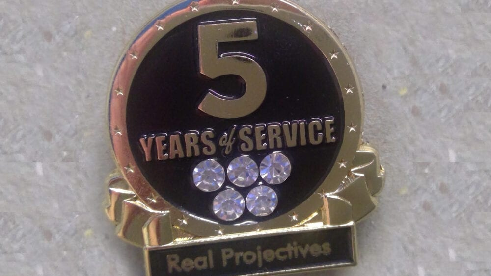 5 years of service award | Real Projectives